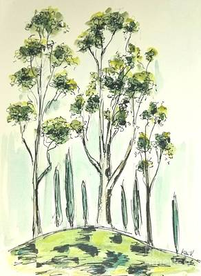 Painting - El Toro Park #2 by Maria Langgle