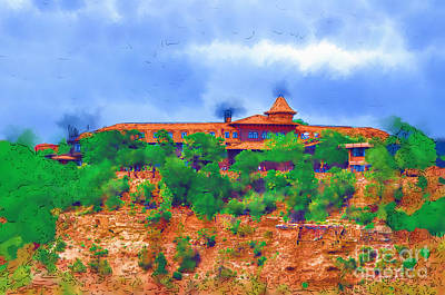 Digital Art - El Tovar On The South Rim by Kirt Tisdale