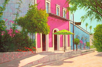 Painting - El Triumfo Cafe by Chris MacClure