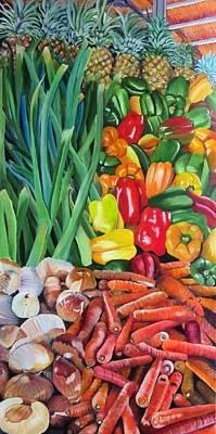 El Valle Market Art Print