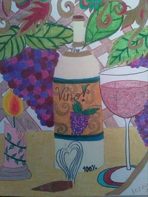 El Vino Art Print