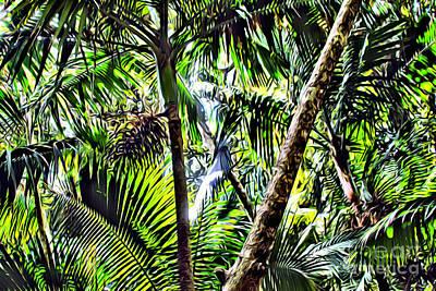 Yunque Digital Art - El Yunque Canopy by Carey Chen