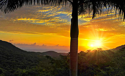 Photograph - El Yunque Mountain Sunrise by Stephen Anderson