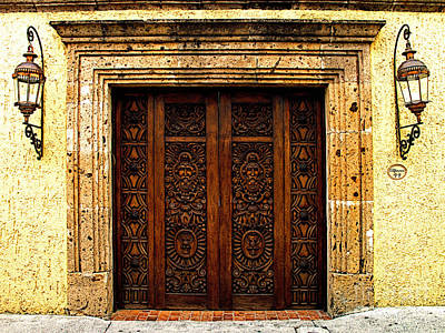 Tlaquepaque Photograph - Elaborate Puerta by Mexicolors Art Photography