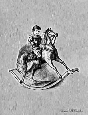 Digital Art - Elaborate Rocking Horse by Pennie McCracken