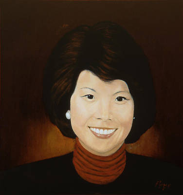 Painting - Elaine Chao by Bruce Ben Pope