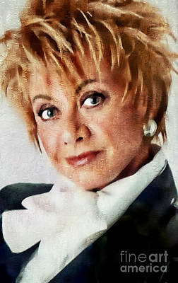 Painting - Elaine Paige - Singer Actress by Ian Gledhill
