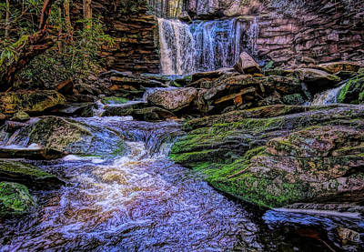 Mixed Media - Elakala Falls Hdr by Dan Sproul