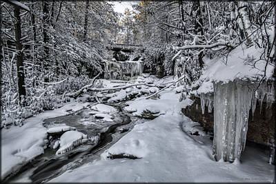 Photograph - Elakala Falls Ice by Erika Fawcett