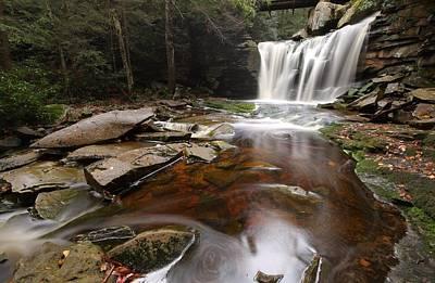 Elakala Falls In West Virginia Art Print by Jetson Nguyen