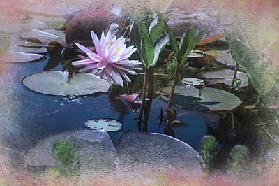 Lilly Pond Digital Art - Elandan Gardens2 by Jeff Burgess