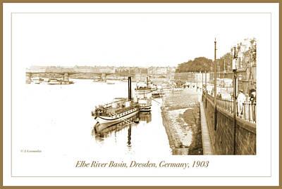 Photograph - Elbe River Basin, Dresden, Germany, 1903 by A Gurmankin