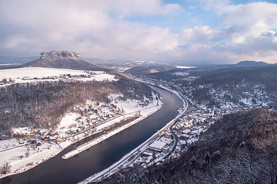 Photograph - Elbe Valley With Mountain Pfaffenstein by Jenny Rainbow
