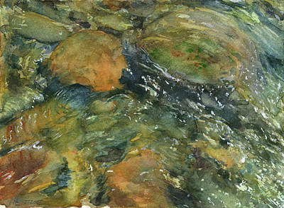 Wading River Painting - Elbow River Rocks 1 by Madeleine Arnett