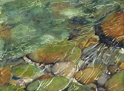 Wading River Painting - Elbow River Rocks 3 by Madeleine Arnett