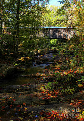 Photograph - Elder Mill Covered Bridge 2 Art by Reid Callaway