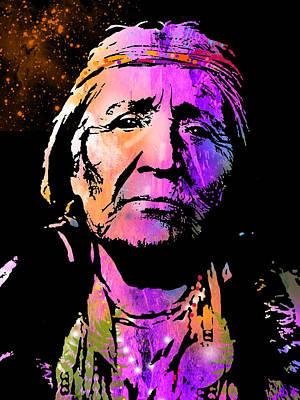 Elderly Hupa Woman Art Print by Paul Sachtleben