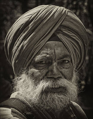 Elderly Sikh  Art Print