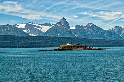 Photograph - Eldred Rock Lighthouse - Lynn Canal by Cathy Mahnke