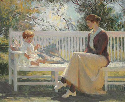 Eleanor And Benny Art Print by Frank Weston Benson