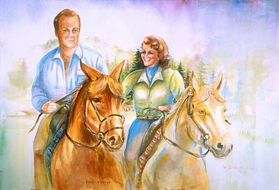 Painting - Eleanor And George by Patricia Schneider Mitchell
