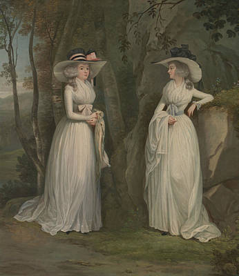 Ross Painting - Eleanor And Margaret Ross by Alexander Nasmyth