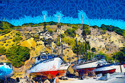 Photograph - Eleanor Maria In Dry Dock Abstract by Barbara Snyder