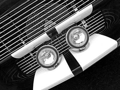 Photograph - Eleanor Mustang Abstract In Black And White by Gill Billington