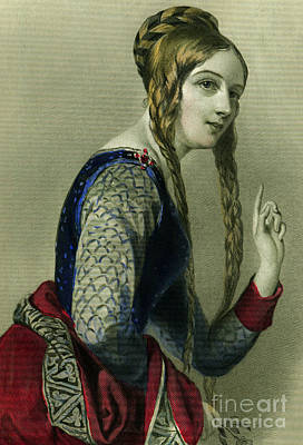 Eleanor Of Aquitaine, Queen Of Henry II Art Print
