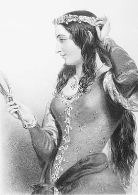 Provence Drawing - Eleanor Of Provence, C.1223-1291. Queen by Vintage Design Pics