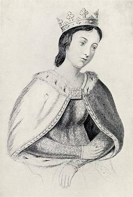 Provence Drawing - Eleanor Of Provence Circa 1223 To 1291 by Vintage Design Pics