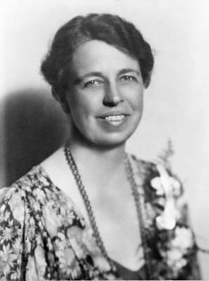 Eleanor Roosevelt 1884-1962 In July Art Print