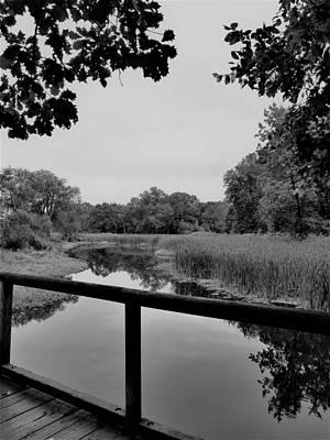 Photograph - Eleanor Roosevelt Bridge B W by Rob Hans