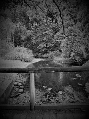 Photograph - Eleanor Roosevelt Bridge1 B W by Rob Hans