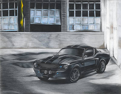 Drawing - Eleanor Mustang Gt 500 by Ryan Doray
