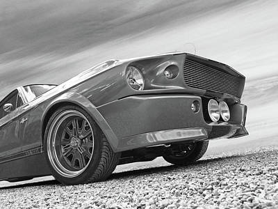 Sportscar Photograph - Eleanor's Day Out In Black And White by Gill Billington
