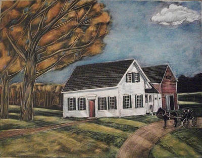 Drawing - Eleanor's House by Grace Keown
