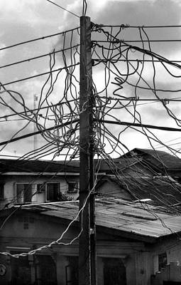 Photograph - Up Nepa Electricity Pole by Muyiwa OSIFUYE
