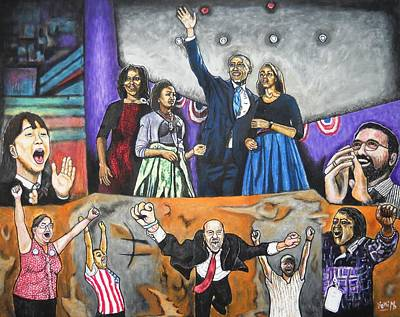 Michelle Obama Painting - Presidential Election 2012 by Koffi Mbairamadji