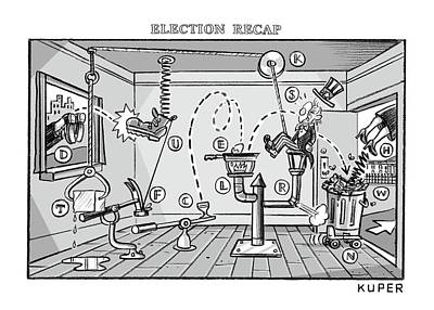 Drawing - Election Recap by Peter Kuper