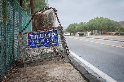 Photograph - Election Sign by Ralph Vazquez