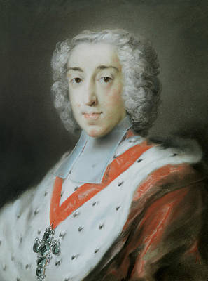 Venetian Art Pastel - Elector Clemens Augustus Of Cologne by Rosalba Carriera