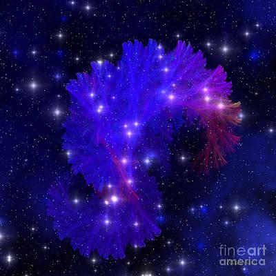 Electra Blue Nebula Art Print