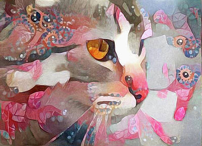 Watercolor Pet Portraits Mixed Media - Electra by Susan Maxwell Schmidt