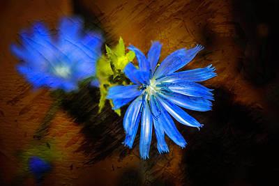 Digital Art - Electric Blue by Richard Ricci