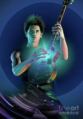 Digital Art - Electric Blue by Shadowlea Is