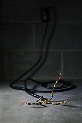 Photograph - Electric Beads by Stephen Dorsett