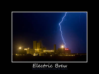 Lightning Photograph - Electric Brew Poster by James BO  Insogna