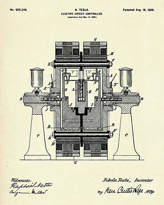 Circuit Painting - Electric Circuit Controller-1898 by Pablo Romero