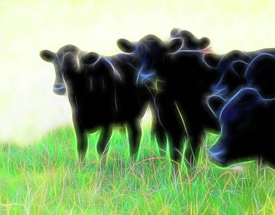 Photograph - Electric Cows by Ann Powell